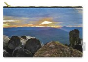 Sunset Over The Mountain Range Carry-all Pouch