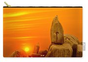Bismarck Rock At Sunset Carry-all Pouch