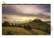 Sunset Over The Ruins Of Spis Castle In Slovakia Carry-all Pouch
