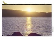 Sunset Over The Straits Carry-all Pouch by Cindy Garber Iverson