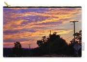 Sunset Over The Wheat Fields Carry-all Pouch