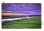 Sunset Over Turners Creek John 3 17 Carry-all Pouch