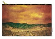 Sunset Over Vineyard Carry-all Pouch by Jill Battaglia