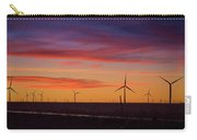 Sunset Over Windmills Field Carry-all Pouch
