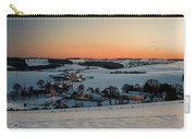 Sunset Over Winter Landscape Carry-all Pouch