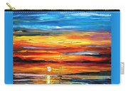 Sunset - Palette Knife Oil Painting On Canvas By Leonid Afremov Carry-all Pouch