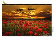 Sunset Poppies Fighter Command Carry-all Pouch