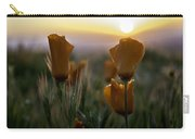 Sunset Poppy Carry-all Pouch