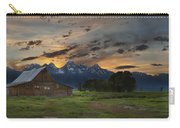 Moulton Barn Sunset Grand Teton National Park Carry-all Pouch