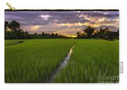 Sunset Rice Fields In Cambodia Carry-all Pouch