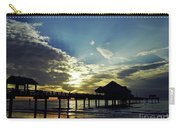Sunset Silhouette Pier 60 Carry-all Pouch