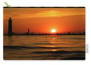 Sunset Silhouettes At Grand Haven Michigan Carry-all Pouch