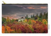 Sunset Sky Over Farm House In Rural Oregon Carry-all Pouch