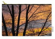 Sunset Through The Tree Silhouette Carry-all Pouch