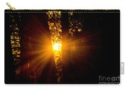 Sun Bursting Through The Trees, Chiloquin Oregon Carry-all Pouch