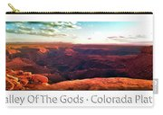 Sunset Tour Valley Of The Gods Utah Pan 09 Text Carry-all Pouch