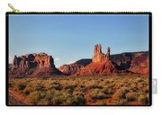 Sunset Tour Valley Of The Gods Utah Text 09 Black Carry-all Pouch