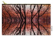 Sunset Tree Silhouette Abstract 2 Carry-all Pouch by James BO  Insogna