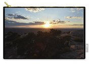Sunset Valley Of The Gods Utah 01 Text Black Carry-all Pouch