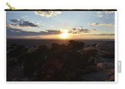 Sunset Valley Of The Gods Utah 01 Text Carry-all Pouch