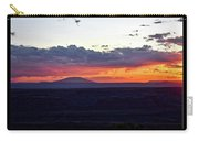 Sunset Valley Of The Gods Utah 05 Text Black Carry-all Pouch