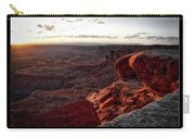 Sunset Valley Of The Gods Utah 09 Text Black Carry-all Pouch