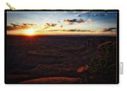 Sunset Valley Of The Gods Utah 11 Text Black Carry-all Pouch