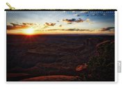 Sunset Valley Of The Gods Utah 11 Text Carry-all Pouch