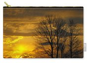 Sunset With Backlit Trees Carry-all Pouch