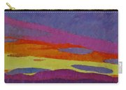 Sunset With Purple Clouds Carry-all Pouch