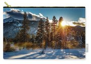 Sunset With Trees Carry-all Pouch