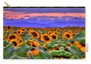 Sunsets And Sunflowers Carry-all Pouch