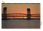 Sunset's Last Light Bridges Over Jamaica Bay Carry-all Pouch