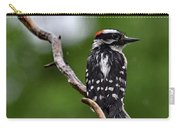 Sunshine Needed - Male Downy Woodpecker Carry-all Pouch