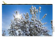 Sunshine Through Snow Covered Tree Carry-all Pouch