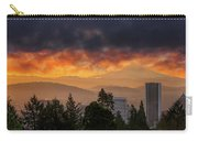 Sunsrise Over City Of Portland And Mount Hood Carry-all Pouch