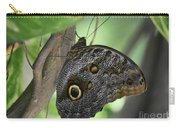 Superb Markings On An Owl Butterfly In A Garden Carry-all Pouch