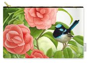 Superb Wren And Camellia Carry-all Pouch