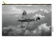 Supermarine Spitfire Vb Black And White Version Carry-all Pouch