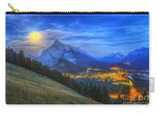 Supermoon Rising Over Mount Rundle Carry-all Pouch