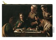 Supper At Emmaus By Michelangelo Merisi Da Caravaggio Carry-all Pouch