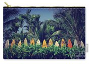 Surf Board Fence Maui Hawaii Vintage Carry-all Pouch
