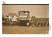 Surf City Vintage Swing Bridge In Sepia 1 Carry-all Pouch