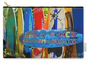 Surfboard Fence-the Amazing Race  Carry-all Pouch