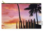 Surfboard Sunset Carry-all Pouch