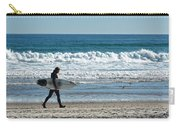 Surfer And His Board Carry-all Pouch