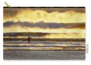 Surfer Faces Wind And Waves, Morro Bay, Ca Carry-all Pouch