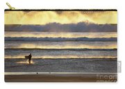 Surfer Heads Into The Waves And Mist Carry-all Pouch