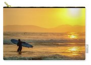 Surfer In The Golden Ocean Carry-all Pouch