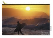 Surfer Walking At Sunset Carry-all Pouch